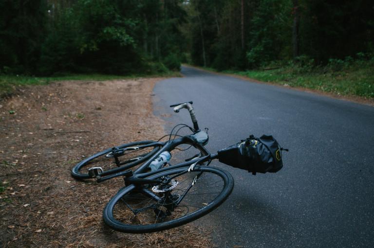 bici da strada distesa