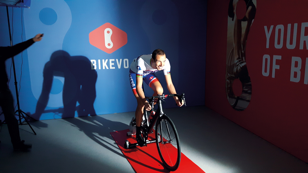 Alessandro Ballan during the video training made for Bikevo