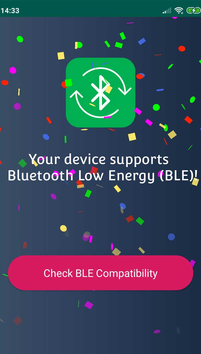 BLE checker application