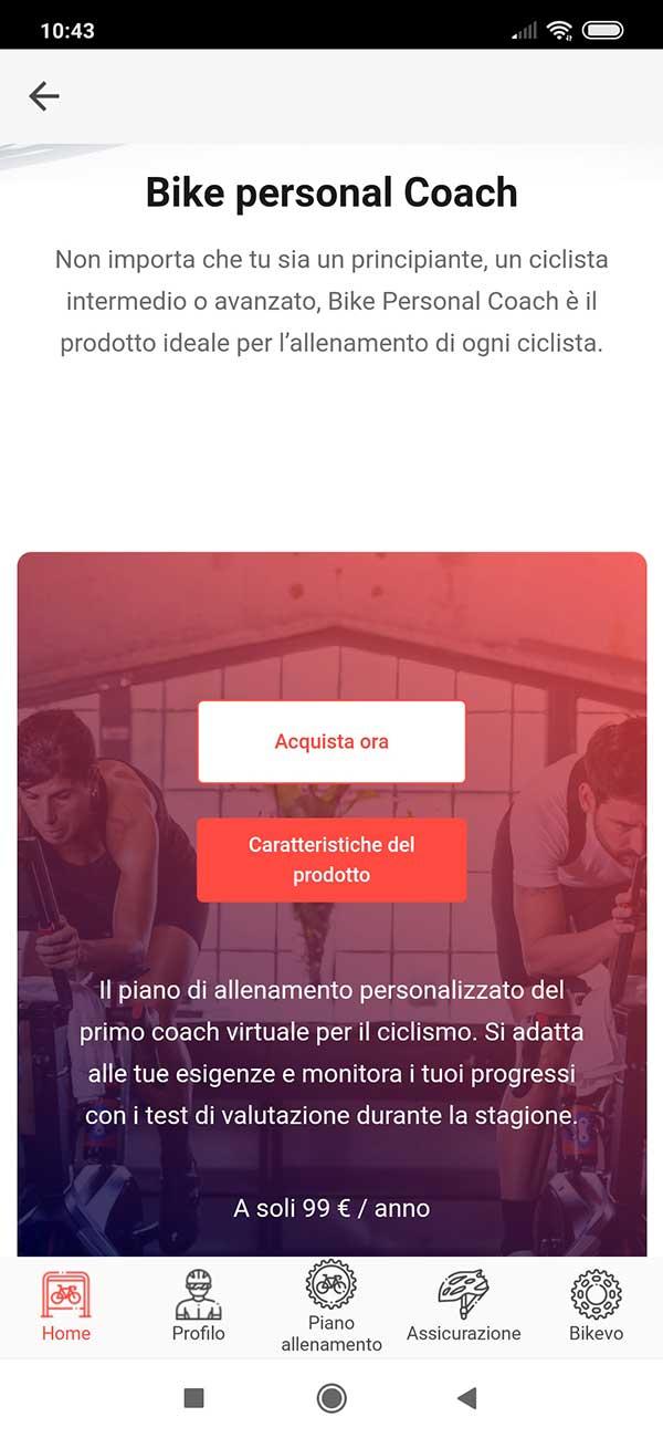 Pagina Acquisto App Bikevo