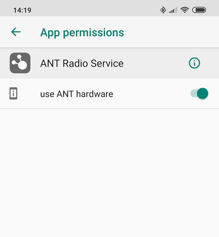 ANT App permission