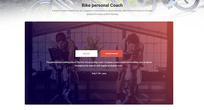 Bikevo website shop page